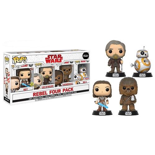 Funko Pop! Star Wars: The Last Jedi Rebel 4 Pack