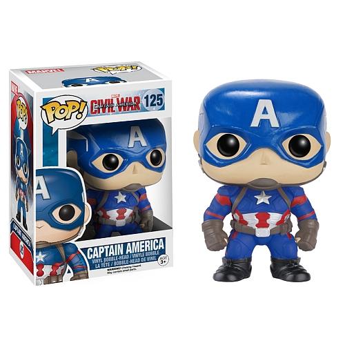 Funko Pop! Marvel 125: Civil War Captain America – Captain America 3