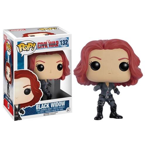 Funko Pop! Marvel 132: Civil War Captain America 3 - Black Widow