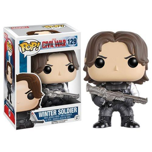 Funko Pop! Marvel 129:  Civil War Captain America 3  -Winter Soldier