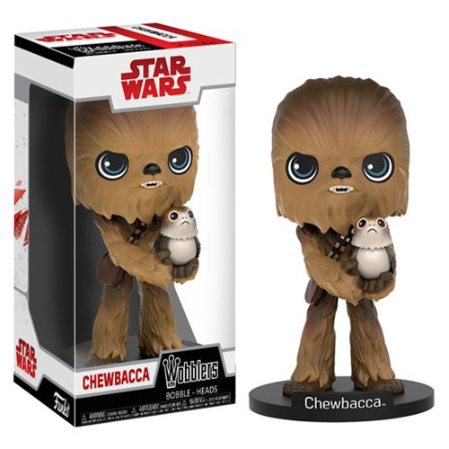 Wobbler: Star Wars The Last Jedi - Chewbacca with Porg