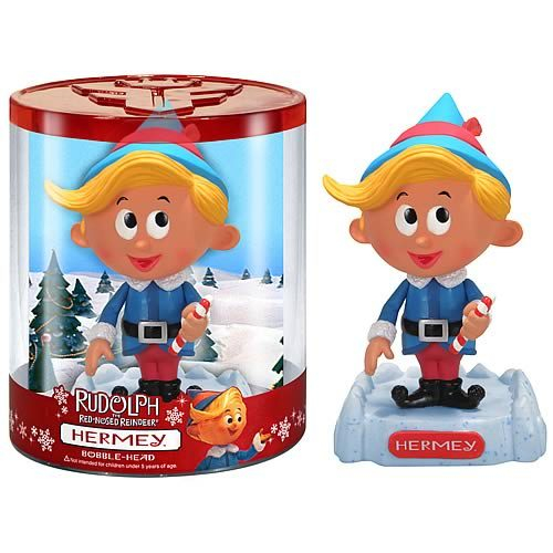 Bobble Head: Rudolph the Red-Nosed Reindeer – Hermey the Elf Wac