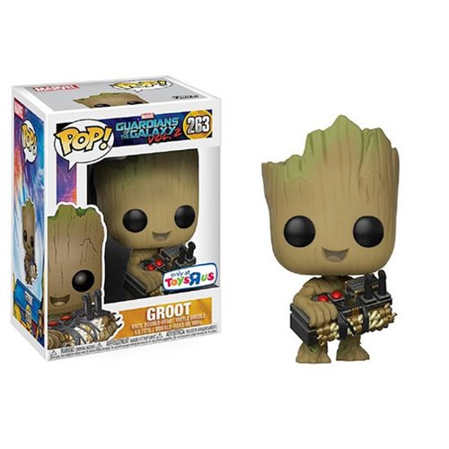 Funko Pop! Marvel 263: Groot holding Bomb (TRU Ex)