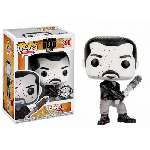 Funko Pop! TV 390: The Walking Dead - Negan [B&W Bloody] (TRU Ex)