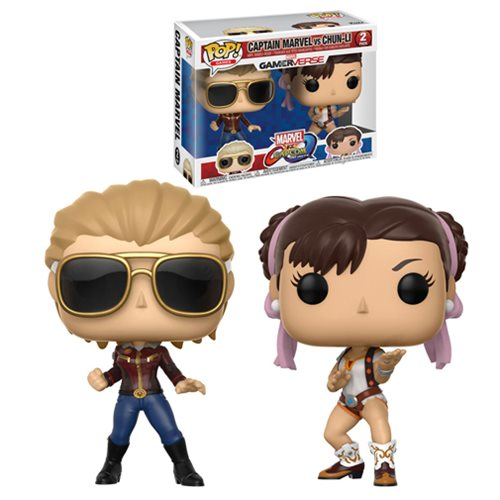 Funko Pop! Games: MvC - Captain Marvel & Chun Li 2 Pack