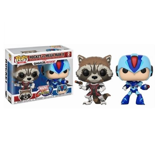 Funko Pop! Games: Marvel vs Capcom - Rocket Raccoon & Mega Man X [2 Pack]