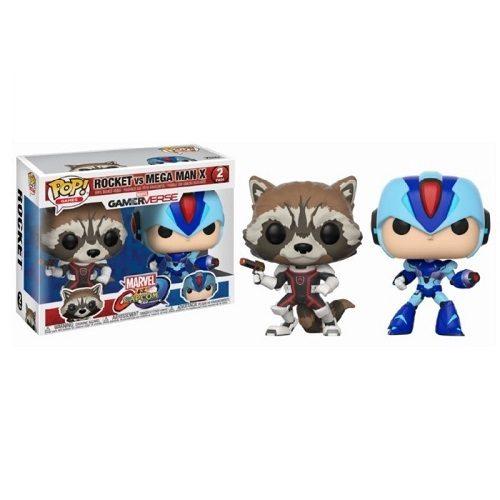 Funko Pop! Games: Marvel vs Capcom - Rocket Raccoon & Mega Man X [2 Pack]