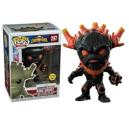 Funko Pop! Games 297: Marvel COC – King Groot (GitD) iEX