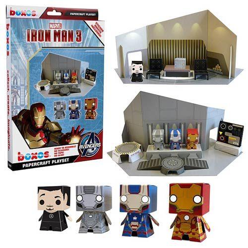 Boxo: 4 Iron Man 3 Papercraft Playset