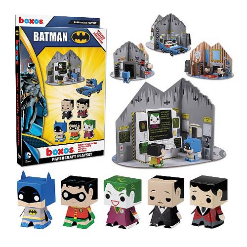 Papercraft Playset Boxo 4: Batman Batcave