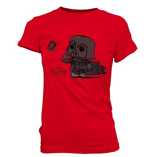 SuperCute Tees: Star Wars - Darth Vader Selfie (Woman Large)