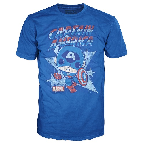Pop Tees: Captain America Royal (Large)