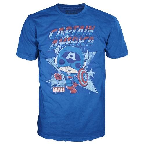 Pop Tees: Captain America Royal (2X)