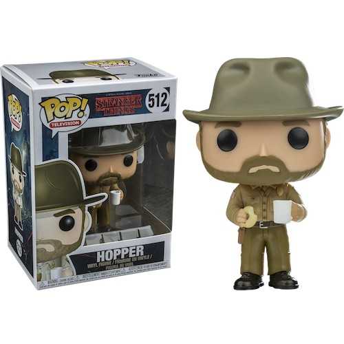 Funko Pop! Television 512: Stranger Things - Hopper with Donut