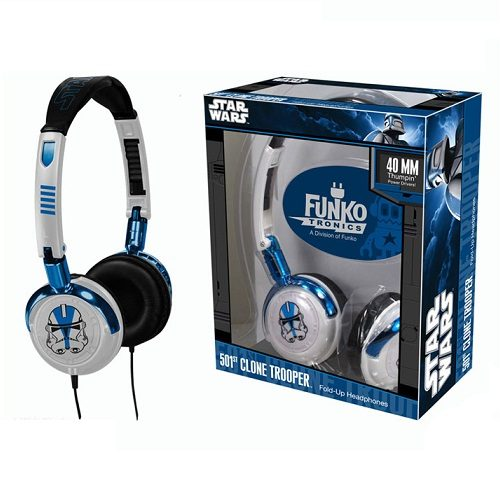 Fold-Up Headphones: Star Wars - 501st Clone Trooper