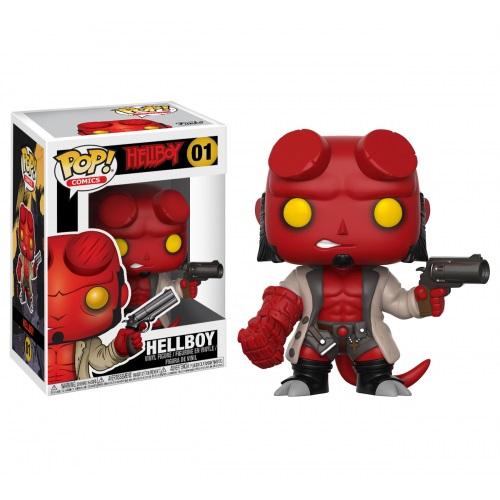 Funko Pop! Comics 01: Hellboy - Hellboy with Jacket & No Horns