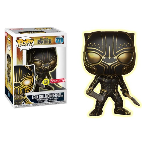 Funko Pop! Marvel 279: Black Panther - Erik Killmonger [Masked GitD] (iEX)