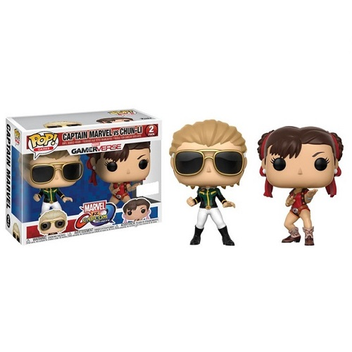 Funko Pop! Games: Marvel vs Capcom - Captain Marvel & Chun Li [2 Pack] (Variant iEX)