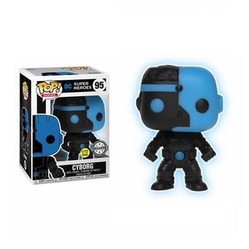 Funko Pop! Movies: DC - Justice League - Cyborg Silhouette