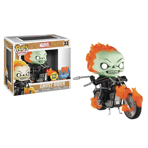 Funko Pop! Rides 33: Ghost Rider on Bike [GitD] (iEX)