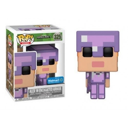 Funko Pop! Games 325: Minecraft – Alex in Enchanted Armor (iEX)