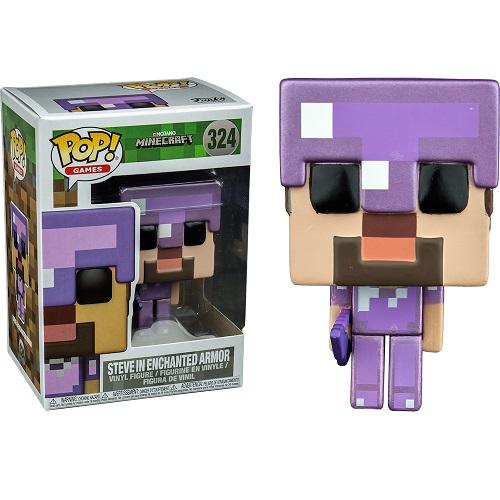 Funko Pop! Games 324: Minecraft - Steve in Enchanted Armor (TRU