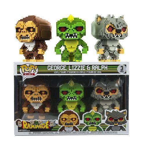 Funko Pop 8 Bit Rampage George Lizzie Ralph 3 Pack Ie