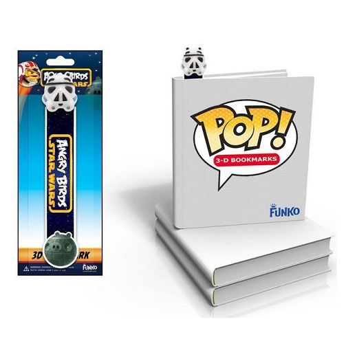 Funko Pop! 3D Bookmark: Angry Bird Star Wars - Stormtrooper Pig