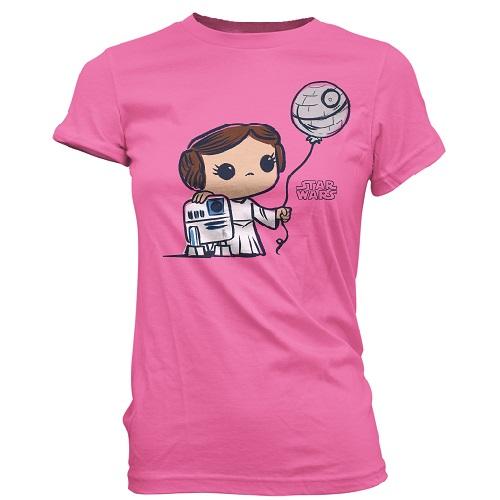 SuperCute Tees: Star Wars - Leia Balloon Pink (XS)