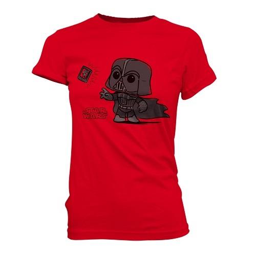 SuperCute Tees: Star Wars - Darth Vader Selfie Red (Woman Medium)