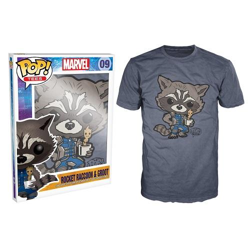 Pop Tees 09: Baby Groot And Rocket Grey (2X)