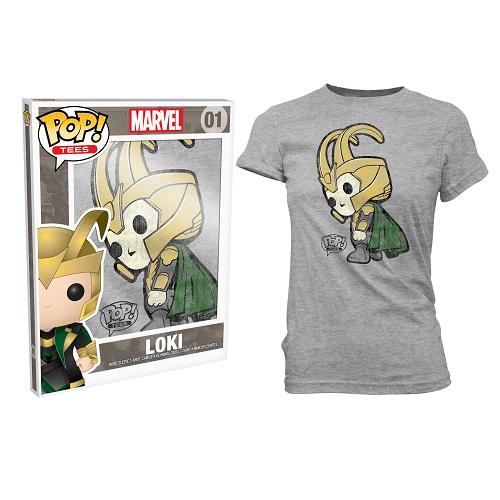 Pop Tees 01: Loki Grey (Woman Large)