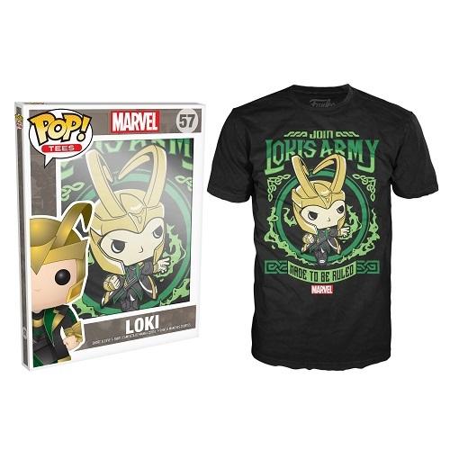 Pop Tees 57: Loki's Army Poster Black (Medium)