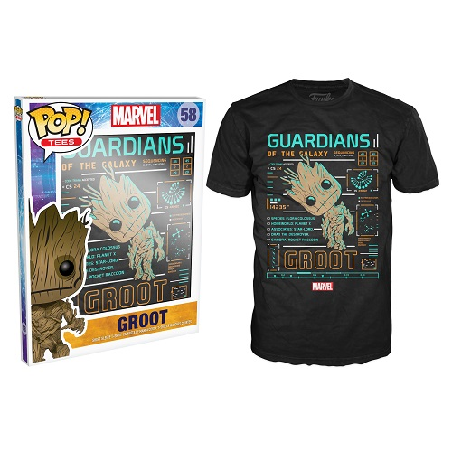 Pop Tees 58: Groot Line Up Blue (Small)