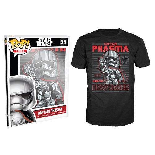 Pop Tees 55: The Force Awaken – Captain Phasma New Order Black (XS)