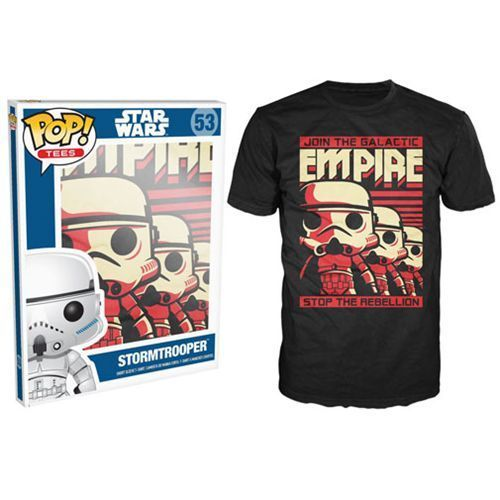 Pop Tees 53: Star Wars The Force Awaken - Stormtrooper (Black) [Small]