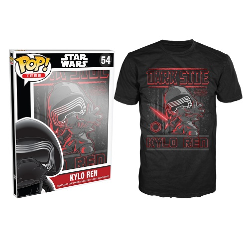 Pop Tees 54: Star Wars The Force Awaken - Kylo Ren Black (Small)
