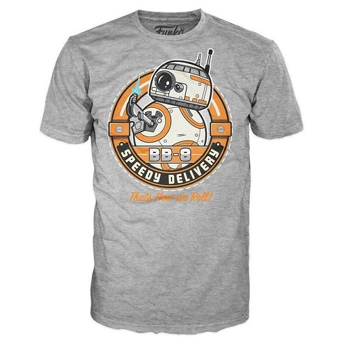 Pop Tees 66: BB-8 Speedy Delivery Grey (Small)