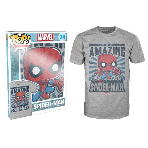 Pop Tees 74: Spider-Man City Grey (Medium)