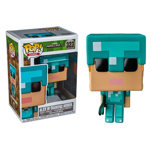 Funko Pop! Games 323: Minecraft - Alex with Diamond Armor (IE)