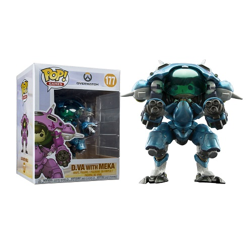 "Funko Pop! Games 177: Overwatch S3 D.Va & Mech  6"" 2Pack (Blue) (IE)"